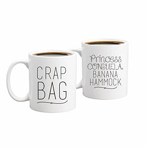 Banana Hammock & Crap Bag Couples Funny Coffee Mug Set