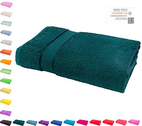 Mixibaby Waschhandschuh, Gästetuch, Handtuch, Duschtuch, Badetuch, Saunatuch aus Frottee, Größe:Waschhandschuh 15x21cm, Farbe:Dunkelgrün