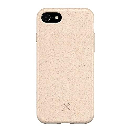 Woodcessories - Bio Case kompatibel mit iPhone SE (2020) / 8/7 / 6 / 6s - Nachhaltig, biologisch abbaubar - BioCase Weiß