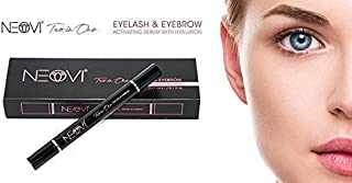 NEOVI TWO-IN-ONE 6ml Eyelash & Eyebrow Enhancing ACTIVATING SERUM with Hyaluronic Acid