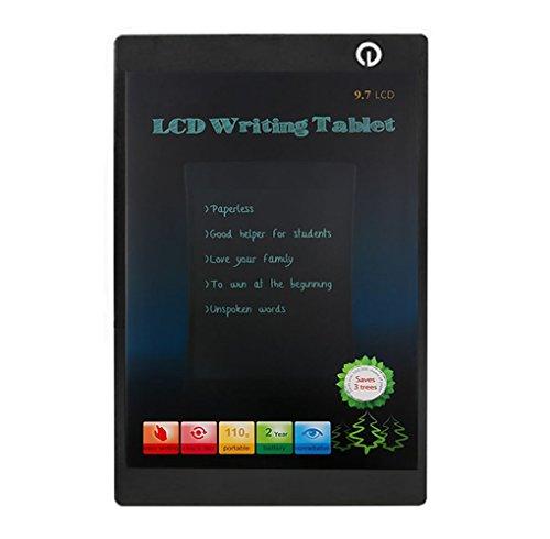 LCD Writing Tablet, Tablet di scrittura Electronics Board minpe LCD 9,7pollici Digital portatile Mini scheda di disegno elettronico colorata Tavolette Grafiche per bambini, studenti, adulti e ufficio