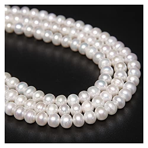 GuanRo Accesorios de joyería, Perlas de Agua Dulce de Alto Brillo, Perlas Blancas Naturales, Perlas Sueltas para Bricolaje Joyería, Pendientes, Pulseras, Collares, Accesorios