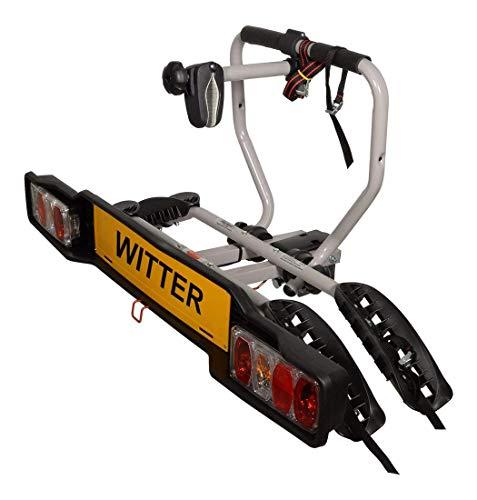 Witter Towbars ZX202EU Fahrradträger für Anhängerkupplung - Kupplungsträger für 2 Fahrräder abklappbar - Heckträger inkl. 7- bzw. 13-poligem Anschluss mit 34 kg Zuladung