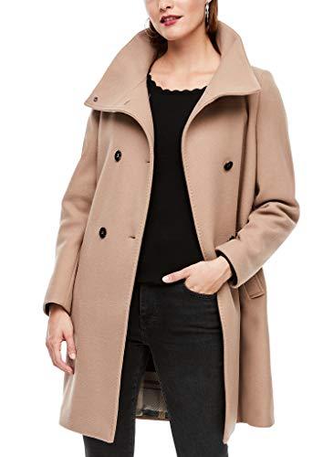 s.Oliver BLACK LABEL Damen Wollmix-Mantel mit Stehkragen beige 40