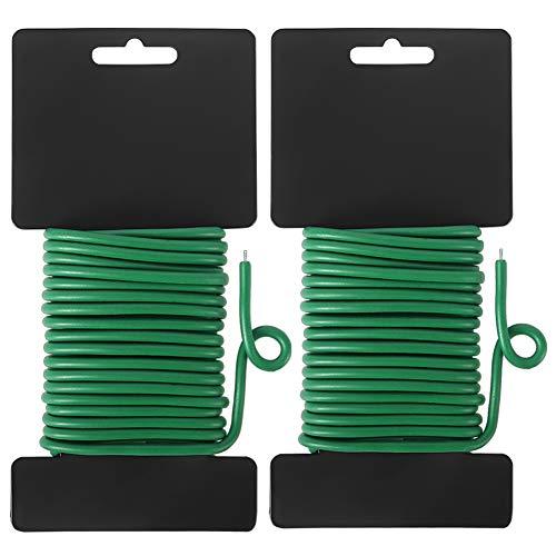 Shintop Bindedraht, 2 Stück Gartendraht für Kletterpflanzen Heavy Duty Green Wire für Gartenarbeit, Heim, Büro (Grün, 65,6 Fuß)