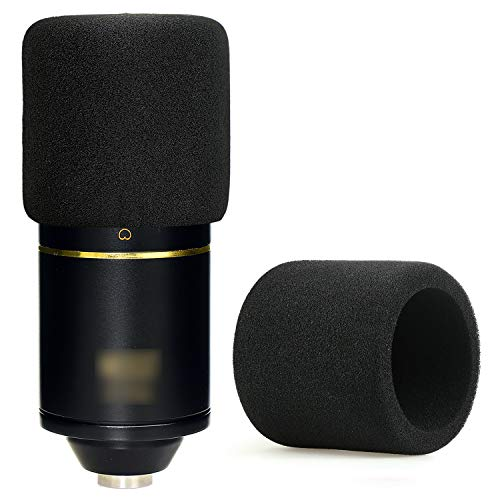 YOUSHARES MXL 770 990 Microphone Foam Windscreen - Mic Foam Cover As a Pop Filter (Black)