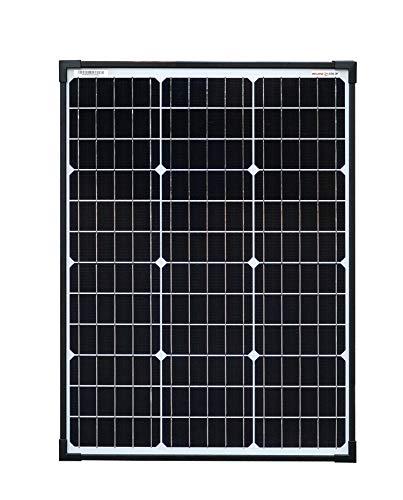 Enjoysolar Panneau solaire monocristallin avec technologie cellulaire PERC Noir, 60W