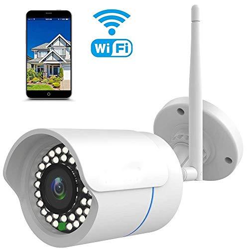 IP Kamera 1080P HUAYUU Überwachungskamera für Außen Wasserdicht WLAN Kamera für Außen WiFi für Outdoor/Indoor,Bewegungserkennung, Unterstützung FTP,Bis zu 128GB SD Karte