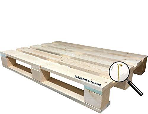Pallet epal 120x80 in legno di abete di qualità, pallet legno creati a mano, bancali legno nuovi mai usati, bancale in legno con ottima finitura ideale per arredo interno e esterno, non verniciati