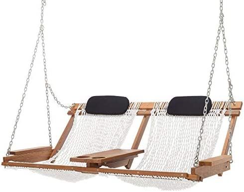 Nags Head Hammocks Cumaru Deluxe Double Porch Swing White Polyester product image