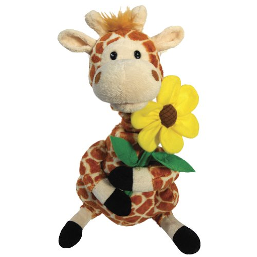 Cuddle Barn | Gerry 12' Giraffe Animated Stuffed Animal Plush | Neck Grows and Mouth Moves | Sings 'Your Love Lifts Me Higher'
