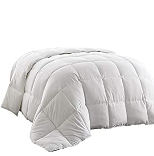 Chezmoi Collection All Season Down Alternative Comforter - Hypoallergenic Plush Microfiber Fill - Box Stitch Quilted - Duvet Insert with Corner Tabs (Full/Queen, White) (B00635VODS) | Amazon price tracker / tracking, Amazon price history charts, Amazon price watches, Amazon price drop alerts