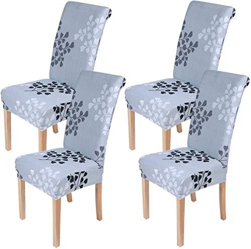Mazu Homee Funda para silla de comedor impresa, elástica, elástica, extraíble y lavable, adecuada para el hogar, cocina, fiesta, restaurante
