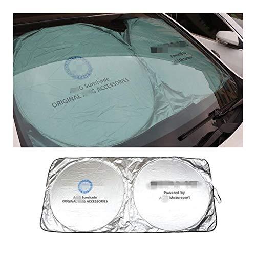 150 * 70cm de coches Accesorios for auto delanteras Parasoles pegatinas for Mercedes Benz AMG W202 W220 W124 W211 W222 W164 W204 W203 X204 W210 (Color : For Benz AMG Logo)