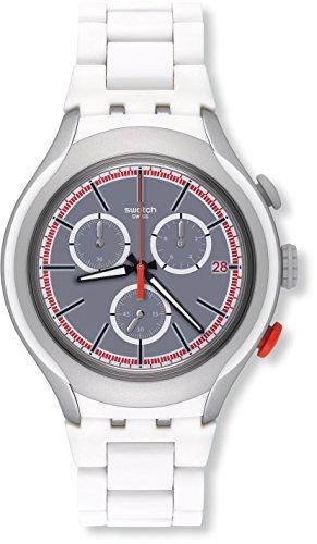 Swatch Herren Digital Quarz Uhr mit Aluminium Armband YYS4019AG