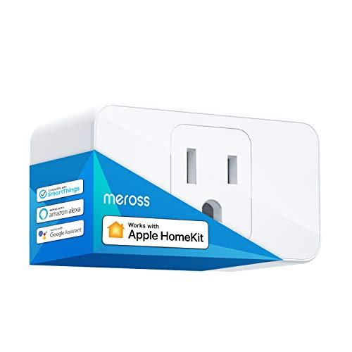 meross Smart Plug Mini, 15A & Reliable Wi-Fi, Support Apple HomeKit, Siri, Alexa, Echo, Google Assistant, Nest Hub and SmartThings, App Control, Timer, No Hub Needed, 1 Pack