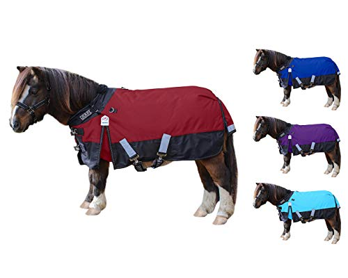 Derby Originals Nordic Tough 600D Ripstop Waterproof Reflective Winter Mini Horse and Pony Turnout Blanket 200g Medium Weight