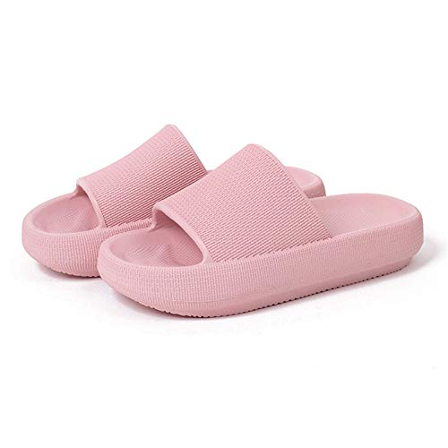 Shower Slippers Thick Sole Non-Slip - Ultra-Soft Thick-Soled Home Comfy Unisex Slippers for Women/Men, Quick Drying Non-Slip Slippers, In-Door Slipper for Gym Pool Sandals (Pink,44-45)