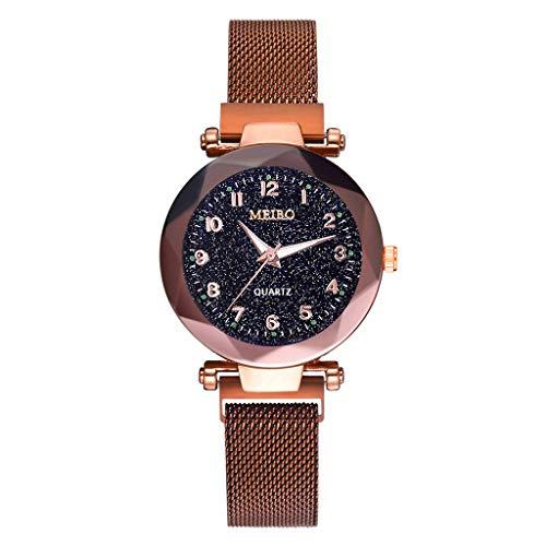 PLOT Fashion Damen Armbanduhren Leuchtenden Sternenklarer Himmel Dial Armband Magnetband Women Watch Damenuhr Armbanduhr