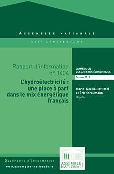 Rapport d'information sur l'hydroélectricité par [Assemblée nationale - Bibliothèque parlementaire]