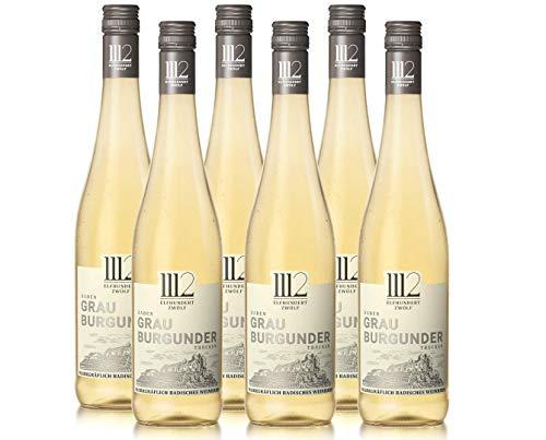 1112 Grauburgunder Trocken  – Weißwein der Marke Elfhundertzwölf (6 x 0,75l)