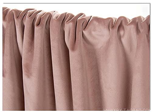 Tela de terciopelo grueso, tela de tapicería de terciopelo persa para coser manualidades, Diseño de la cortina de la decoración de la boda del fondo, se vende por metro 280 cm(Color:pale pinkish gray)
