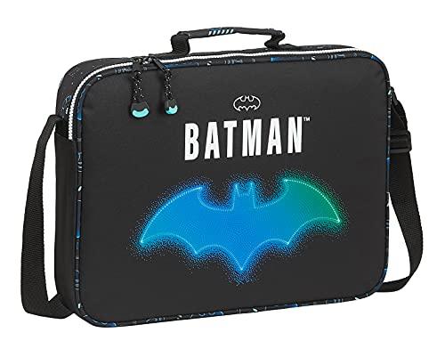 Safta Cartera Extraescolares de Batman Bat-Tech, 380x60x280 mm, Negro (M385)