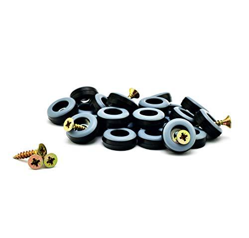 store HD Deslizador de muebles para atornillar, 20 mm de diámetro, teflón, 8 unidades de teflón, con tornillos, la mejor alternativa a los deslizadores de fieltro
