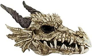 Design Toscano Stoker's Moors Dragon Skull Gothic Garden Statue, Large, 26 Inch, Polyresin, Full Color