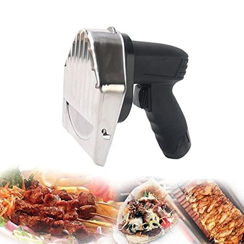 EnweMahi Kebab Elektromesser Kabellos,Kebab Messer Mit 2 Batterie Ladegerät 2 Klinge,Einstellbare Schnittstärke 0-8Mm,Elektrische Küchengeräte Für Schneiden Sie Alle Arten Von Fleisch