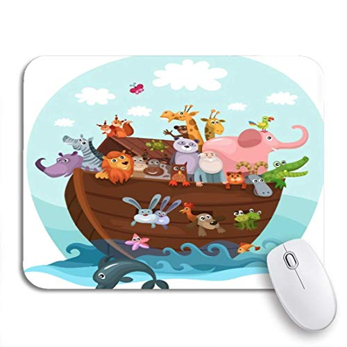 Gaming Mouse Pad Geschichte Noah Ark Cartoon Arc Tierboot Nette rutschfeste Gummi Backing Computer Mousepad für Notebooks Maus Matten