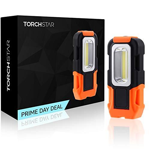 TORCHSTAR Portable LED Work Light, COB Magnetic Work Light,...