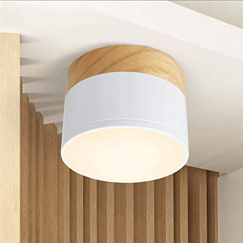 Aplique De Pared De Estilo Industrial Lámpara de techo de pasillo de pasillo de madera maciza de pasillo de pasillo de madera sólida lámpara de techo lámpara de techo nórdico japonés Nordic Lámpara De
