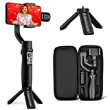 Hohem 3-Axis Gimbal Stabilizer for iPhone12 11 PRO MAX X XR XS Smartphone w/Inception Sport Mode Object Face Tracking Motion Time-Lapse Quick Balance Handheld Gimbal for Vlog Youtuber Live Video