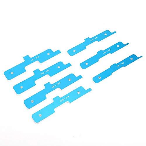 Barra de configuración de mesa de enrutador, 7 piezas/juego, barra de configuración de carpintería de color azul de aluminio, para herramientas de carpintería, herramienta de carpintería,