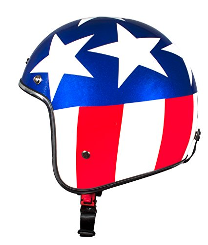BHR Casco, color Blanco/Azul/Rojo (USA), talla 61
