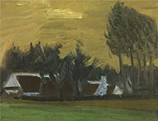 Oil painting 'Gustave De Smet - Landscape with Canada Trees,20th century' printing on Perfect effect Canvas , 24x31 inch / 61x79 cm ,the best Bedroom artwork and Home gallery art and Gifts is this Art Decorative Canvas Prints