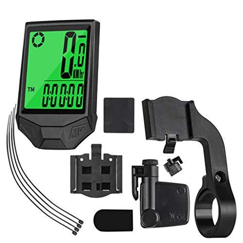 ZXCVAM Ordenador de Bicicleta con Cable e inalámbrico, medidor de código de...