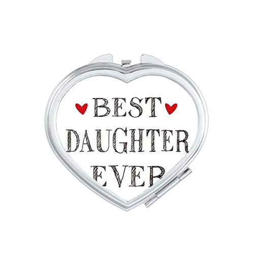 DIYthinker Meilleure Amie jamais Citation Coeur Coeur Maquillage Compact Miroir de Poche Portable Mignon Petit Miroirs Main Cadeau Multicolor
