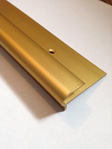 Dural Stepfloor onestopdiy de rosca anodizado dorado itinerarios perfil 0,9 m;bar de aluminio de 8-10 millimeter a para suelo con texto en inglés