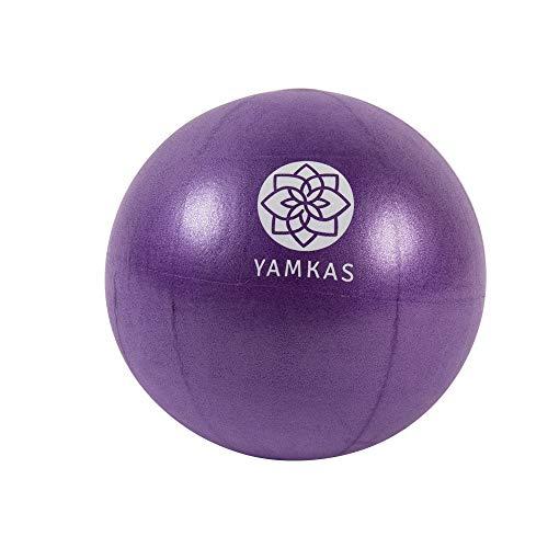 Yamkas Palla da Pilates Piccola 22cm • Mini Yoga Ball per Esercizi Addominali e Spalla Esercizi di Riabilitazione Core • Palla per Fitness Ginnastica Palestra (Purple, 22 cm)