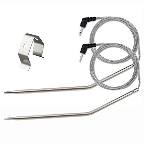 Grilling BBQ Meat Thermometer Temperature Probe Replacement Thermometer Probe for Thermopro TP20 TP07 TP-07 TP08 TP-08S TP06S TP16 TP-16S TP17 Famili MT004, Fit Listed Models Only