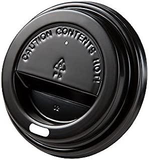 BIOZOYG Tapa de Taza para caf/é To Go /Ø 80mm I 50 Tapa para Tazas de cart/ón Hechas de poliestireno Totalmente reciclable I Tapa Plana Negra con Agujero para Beber
