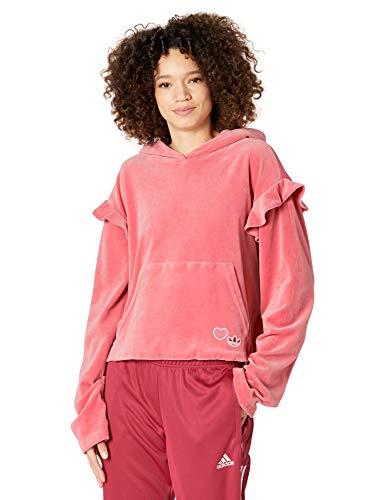 adidas Originals Hoodie Sudadera con Capucha, Rosa Nebulosa, S para Mujer