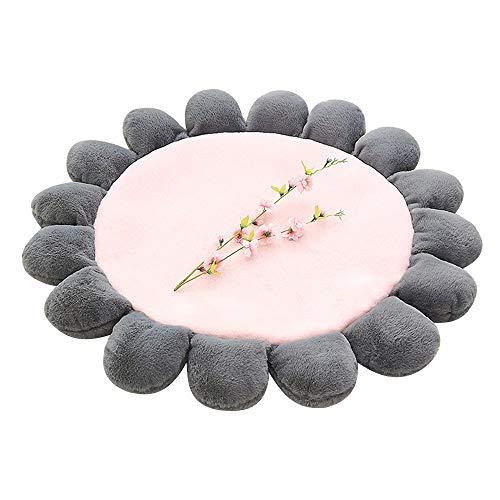 Homeng Flower-Bodenkissen, weich, dick, für Kinder, Krabbeldecke, Krabbeldecke, Krabbeldecke, Camping, Picknickdecke, Rose, 43''''/110cm