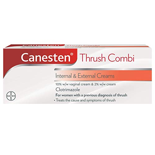 Canesten Thrush Combi Internal & External Creams | Clotrimazole | Thrush Treatment | Complete Two-Step Thrush Treatment