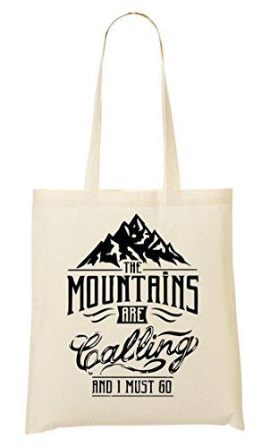 C+P Mountains Are Calling I Must Go Cool Tragetasche Einkaufstasche