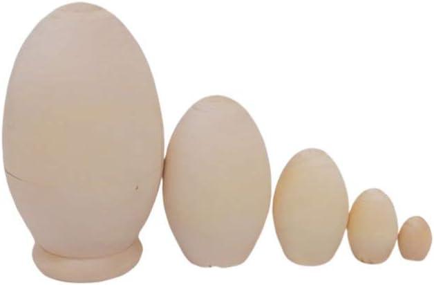 Healifty Wooden Nesting Year-end annual account Eggs Dolls Russian Industry No. 1 Matryoshka Do