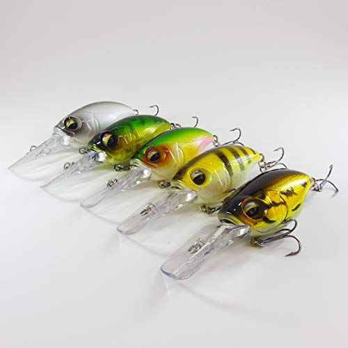 momolures Fishing Lure Crank Bait Bass Pike Zander SR-X shallow Wiggle deep model
