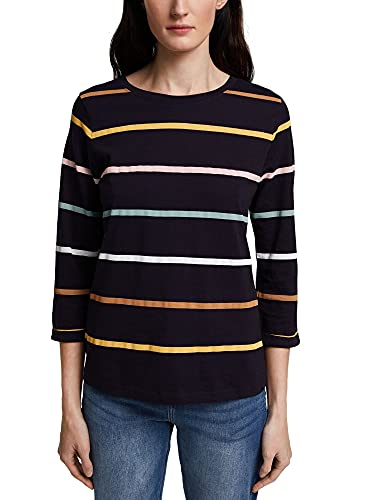 ESPRIT Damen 011EE1K343 T-Shirt, 400/NAVY, S